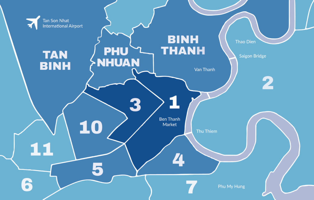 District Map of Saigon