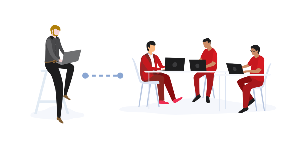 Metasource Illustration - Offshore software development teams
